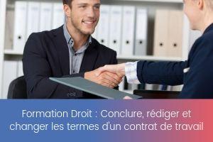 Conclure, rédiger et changer les termes d'un contrat de travail – image – site