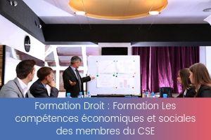 Formation Les compétences économiques et sociales des membres du CSE – image – site