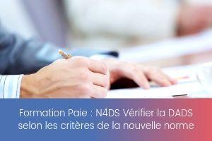 N4DS Vérifier la DADS selon les critères de la nouvelle norme – image – site