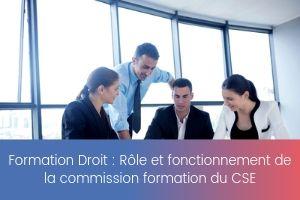 Rôle et fonctionnement de la commission formation du CSE – image – site