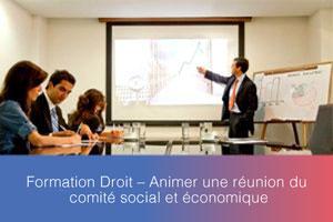 Formation – Animer une réunion du comité social et économique