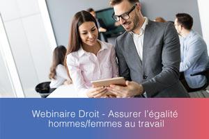 Webinaire – Assurer l'égalité hommes/femmes au travail